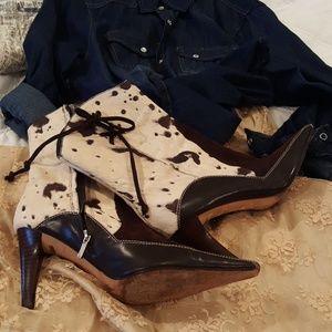 VIS A VIE Leather Western Boots